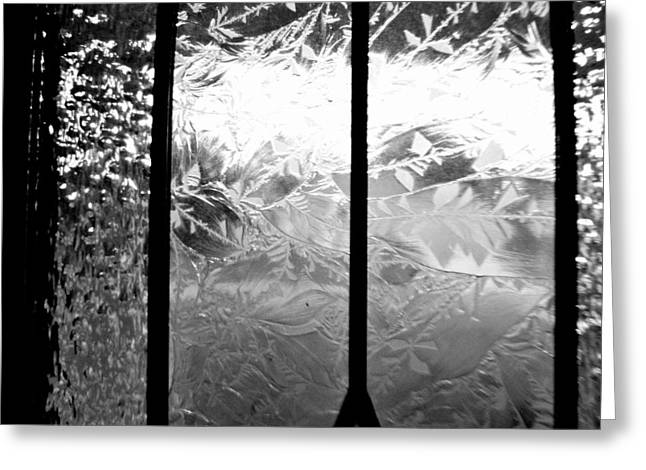 Etched In Glass Greeting Card by Laura DAddona