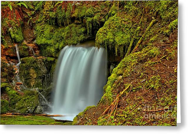 Eternal Fountain Waterfall Greeting Card by Adam Jewell