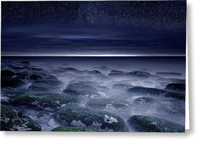 Greeting Card featuring the photograph Eternal Horizon by Jorge Maia