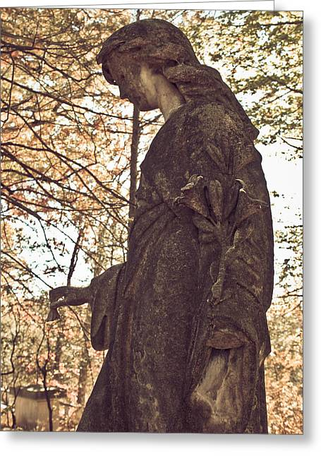 Eternal Peace - Sleepy Hollow Cemetery Greeting Card by Colleen Kammerer