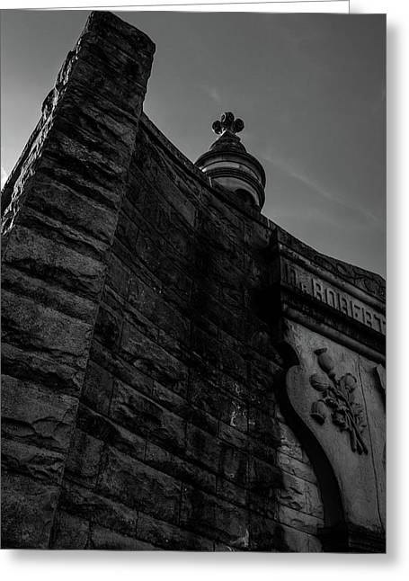 Eternal Stone Structure Bw Greeting Card