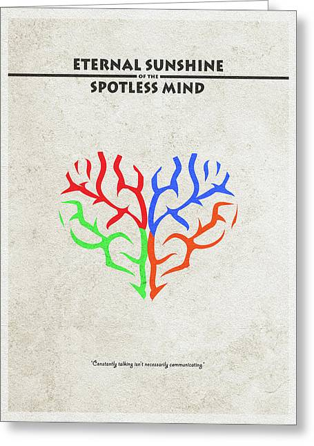 Eternal Sunshine Of The Spotless Mind - Alternative And Minimalist Poster Greeting Card