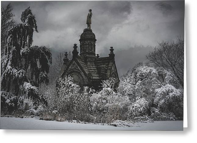 Greeting Card featuring the digital art Eternal Winter by Chris Lord