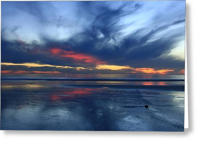 Greeting Card featuring the photograph Ethereal Beach Blues by John F Tsumas