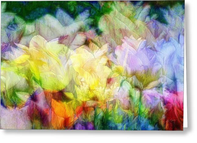 Ethereal Flowers Greeting Card