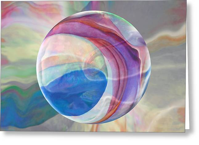 Greeting Card featuring the painting Ethereal World by Robin Moline