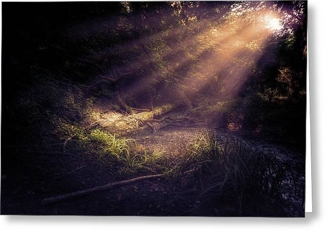 Ethereal Light Greeting Card