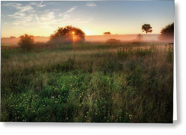 Ethereal Sunrise Greeting Card by Bill Wakeley
