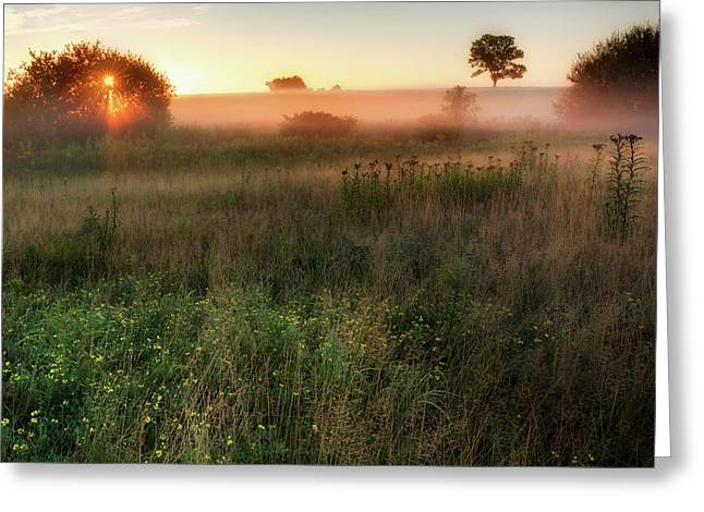 Ethereal Sunrise Square Greeting Card