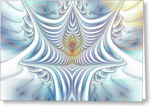 Greeting Card featuring the digital art Ethereal Treasure by Jutta Maria Pusl