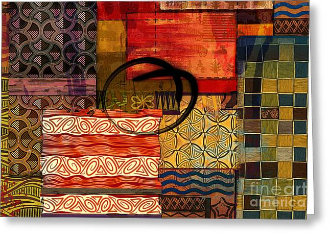 Ethnic Abstract Greeting Card by Bedros Awak