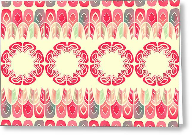 Ethnic Geometric Pattern Greeting Card