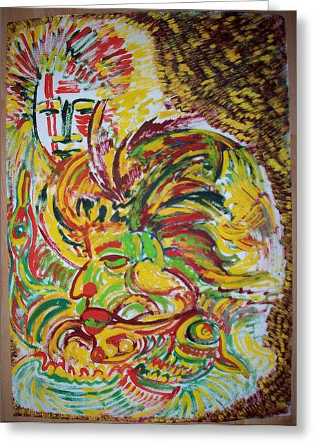 Ethnic Greeting Card by Helene  Champaloux-Saraswati