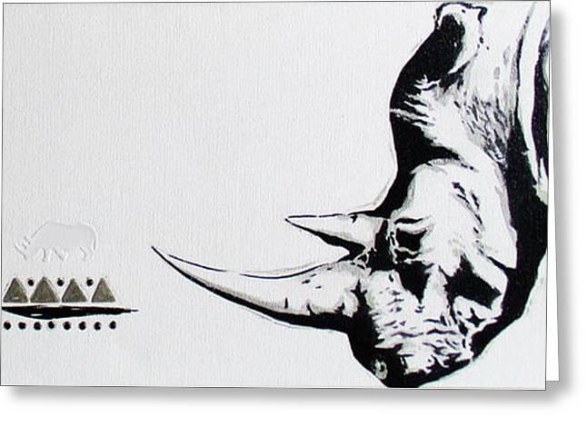 Ethnic Rhino Greeting Card