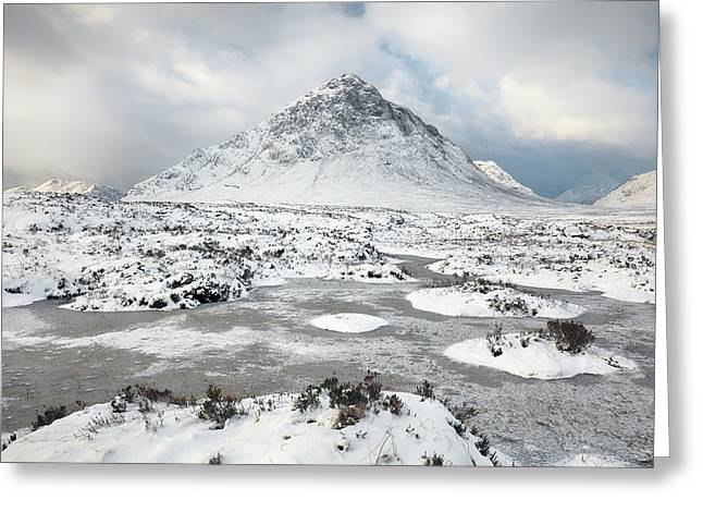Etive Mor Winter Greeting Card