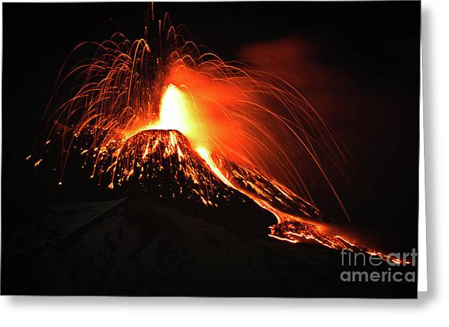 Italy, Sicily,etna Greeting Card