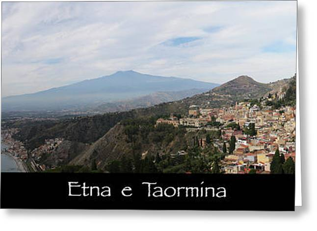 Etna E Taormina Greeting Card