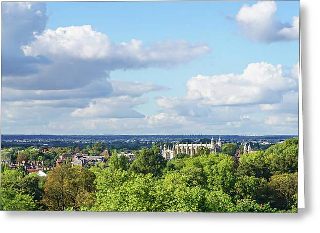 Eton College From Windsor Castle Greeting Card