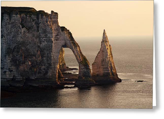 Etretat In Morning Sun Greeting Card