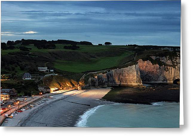 Etretat In The Evening Greeting Card by Nailia Schwarz