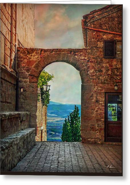 Greeting Card featuring the photograph Etruscan Arch by Hanny Heim