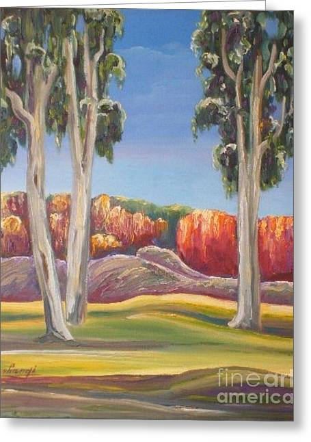 Eucalyptus Greeting Card by Ushangi Kumelashvili