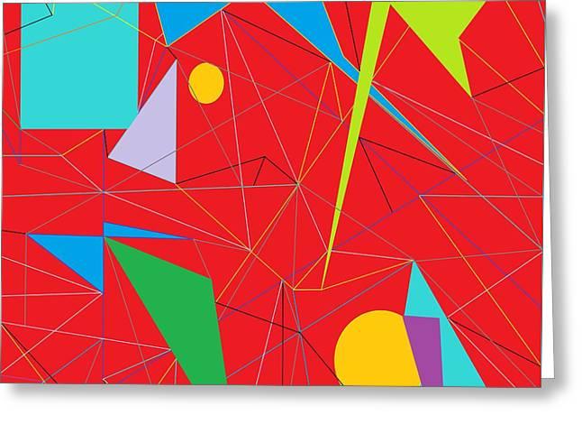 Euclid's Spider Webs Greeting Card by Eloise Schneider