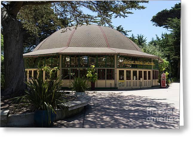 Eugene Friend Carousel At The San Francisco Zoo San Francisco California Dsc6328 Greeting Card