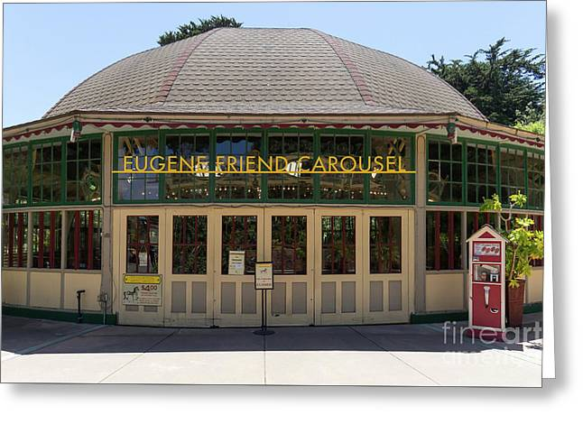 Eugene Friend Carousel At The San Francisco Zoo San Francisco California Dsc6331 Greeting Card