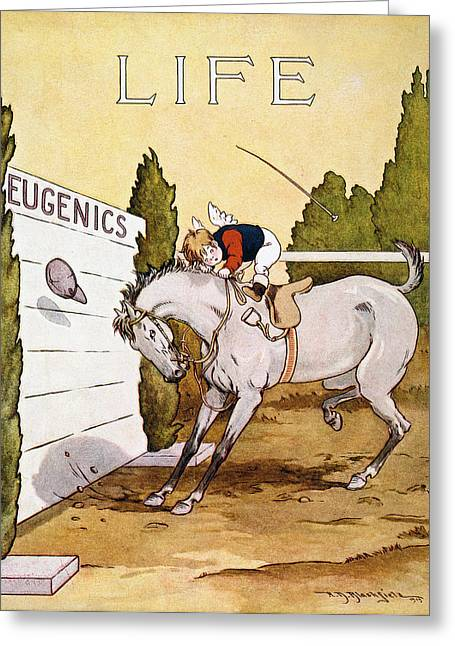 Eugenics: Magazine Cover Greeting Card by Granger