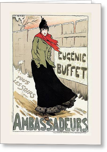 Eugenie Buffet Winter Greeting Card by Aapshop