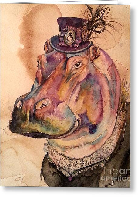 Eunice Hippo Greeting Card
