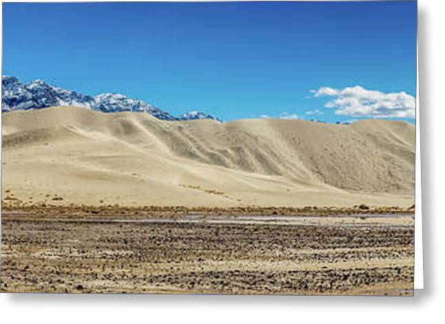 Greeting Card featuring the photograph Eureka Dunes - Death Valley by Peter Tellone
