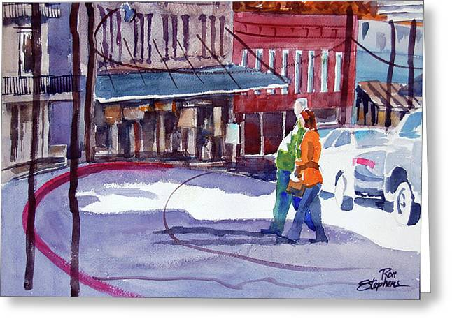 Eureka Springs Ak 3 Greeting Card by Ron Stephens