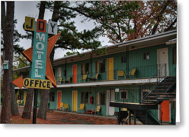 Greeting Card featuring the photograph Eureka Springs - Joy Motel 001 by Lance Vaughn