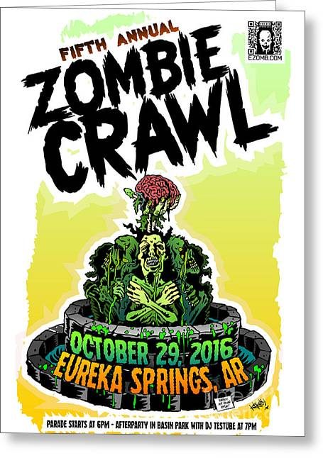 Eureka Springs Zombie Crawl 2016 Greeting Card