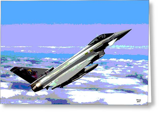 Eurofighter Typhoon Greeting Card by Charles Shoup