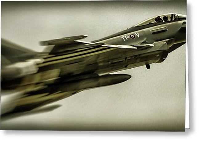 Eurofighter Typhoon Greeting Card by Martin Newman