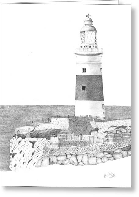 Europa Point Lighthouse Greeting Card