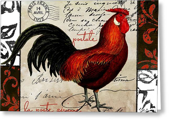 Europa Rooster II Greeting Card by Mindy Sommers