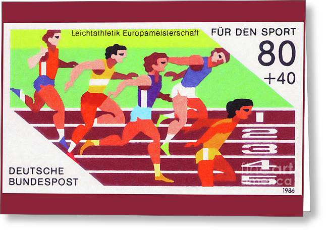 European Athletics Championships Greeting Card