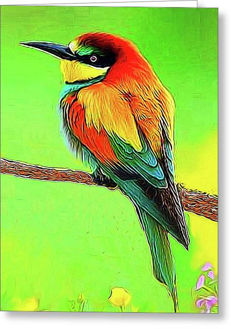 European Bee Eater Greeting Card
