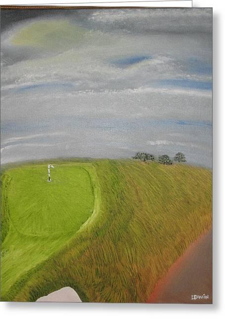 European Golf Tour Greeting Card by Edwin Long