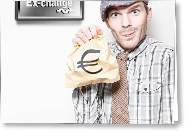 European Sovereign Debt Crisis Or Eurozone Crisis Greeting Card