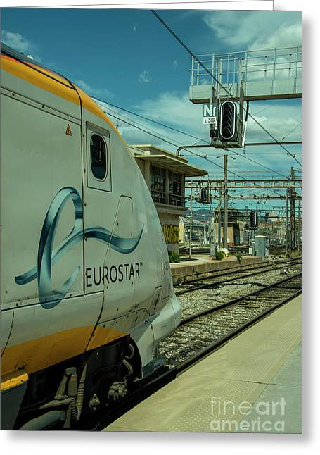 Eurostar At Marseille Greeting Card