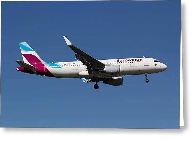 Eurowings Airbus A320 Greeting Card