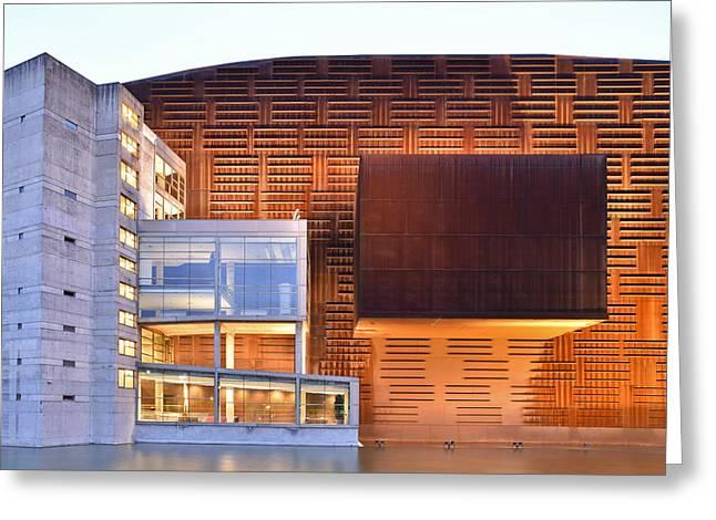 Euskalduna Center Bilbao Spain Greeting Card by Marek Stepan