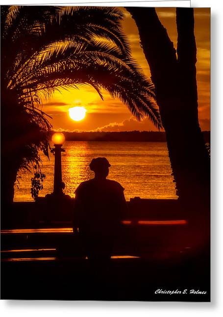 Greeting Card featuring the photograph Eustis Sunset by Christopher Holmes