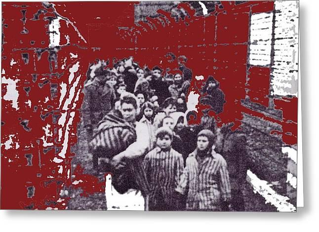 Eva Kor Auschwitz Liberation January 1945 Screen Capture Forgiving Dr. Mengele 2015 Greeting Card by David Lee Guss