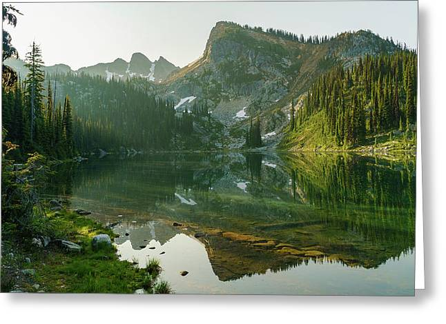 Eva Lake At Dawn Greeting Card